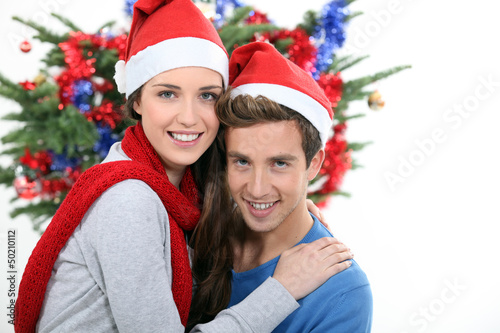 Couple at Christmas