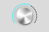 Realistic metal volume knob - vector file