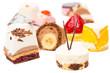Verschiedene bunte Süßspeisen