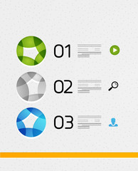Modern colorful geometrical infographic