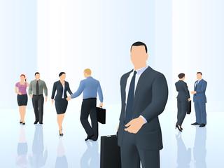 Geschäftsleute - Business Situation: Illustration