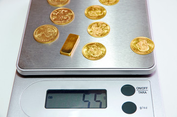 gold bar scales