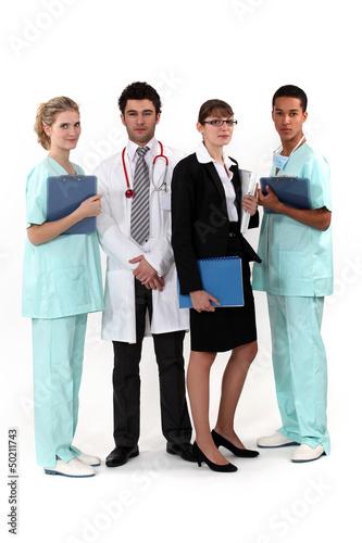 An hospital team.