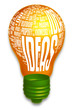 Idea light bulb (included Clip Path)