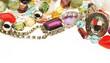 Mixed plastic Jewelry backlit Studio Shot