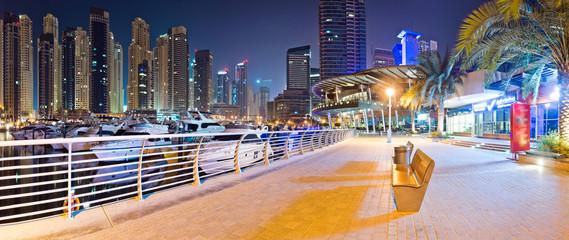Dubai marina tourism Bench Pano