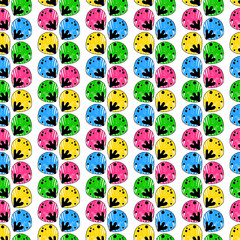 Seamless abstract pattern with a multitude of elements