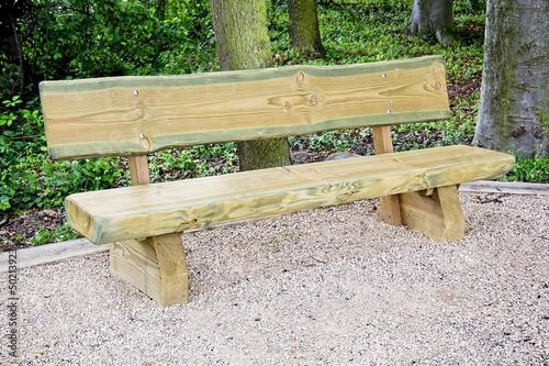Holz Sitzbank im Wald