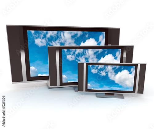 Three TVs