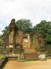Remains of the historic city Polonnaruwa