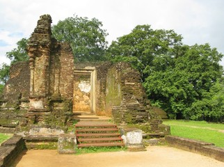 The pothgul vihara the library in the ancient city Polonnaruwa