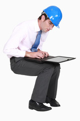 Engineer with a laptop