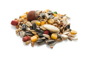 Mélange de graines pour perroquets.