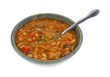 Italian Vegetable Bean Soup Bowl Spoon