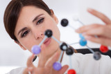 Scientist Looking At Molecular Structure