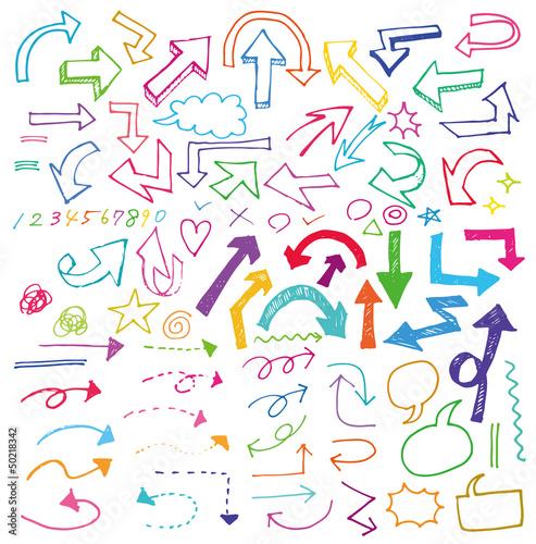 手書き・矢印・カラー