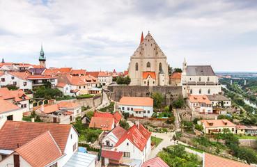 Panorama of Znojmo, Czech Republic.