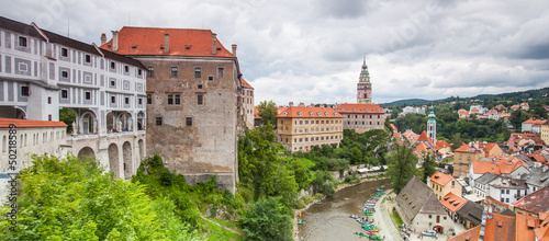 Panorama of Cesky Krumlov, Czech Republic. UNESCO