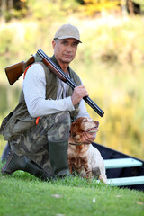 Hunter with dog