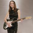 hübsche Frau mit Gitarre