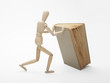 Wooden man and book