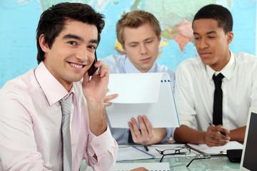 Businessmen in a training