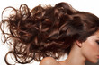 canvas print picture - Curly Long Hair. High quality image.