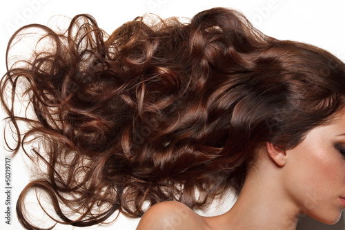 canvas print picture Curly Long Hair. High quality image.
