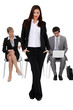 Confident businesswoman waiting with others