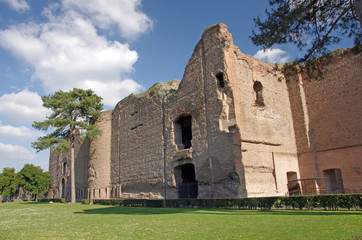 The Baths of Caracalla ruins