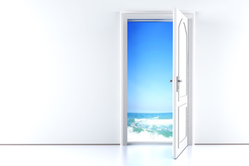 Tür zum Strand