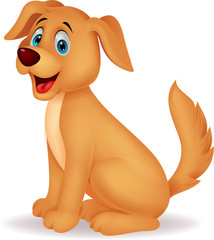 Cute dog cartoon