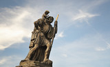 Child Christus at the shoulder of saint Christopher, Prague - 50221101