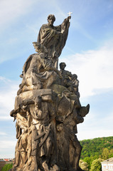 Saint Francies Xavier statue, Charles bridge Prague