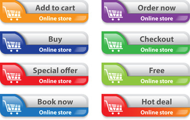 Online store/shop web interface elements