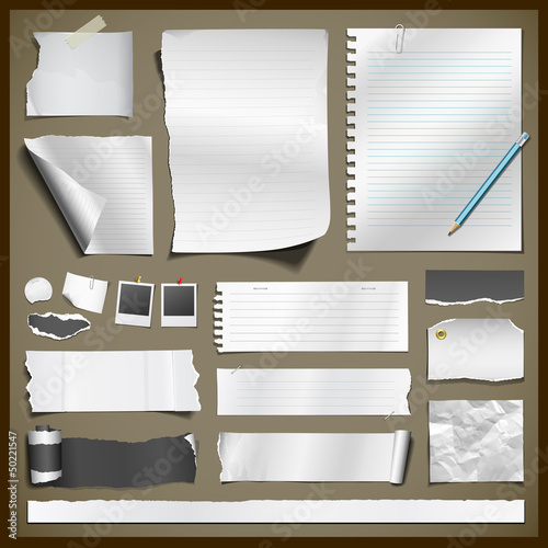 White paper and black paper collections, vector