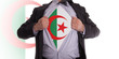 business man with Algerian flag t-shirt