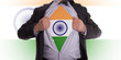 Business man with Indian flag t-shirt