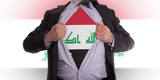 Business man with Iraqi flag t-shirt