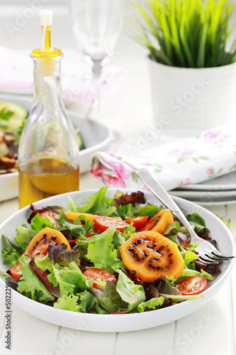 Delicious salad with tamarillos