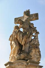 Statue St. Luitgarda on Charles Bridge in Prague