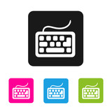 Keyboard icon - vector colored rounded square shapes