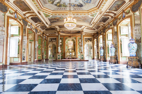Hall of Ambassadors in Queluz National Palace, Portugal