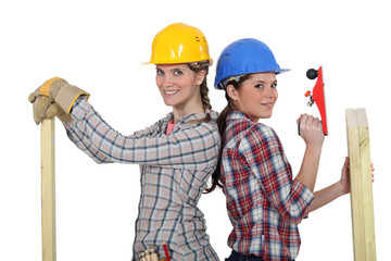 A team of tradeswomen