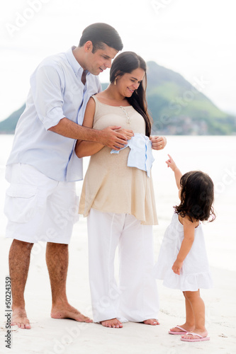 Family expecting a baby
