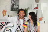 German couple celebrating win