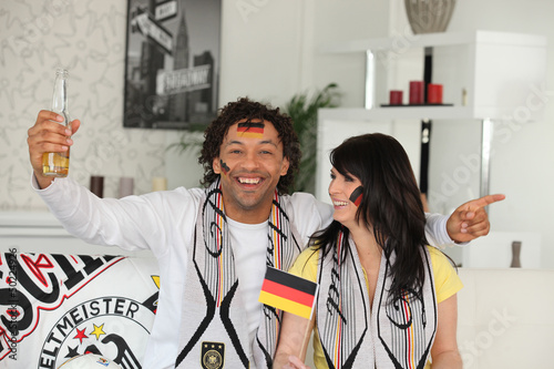 German couple celebrating win