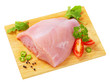 Raw skinless turkey breast