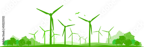 Landschaft Windpark - 50225512