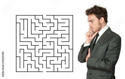 Businessman seek the solution